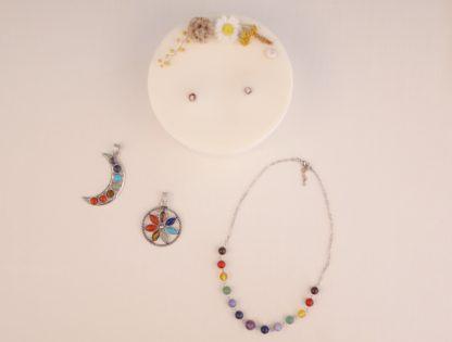 Bougies bijoux collier 7 chakras