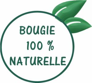 Bougie naturelle à 100 %