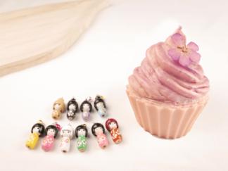Bougie cupcake poupee japonaise bola