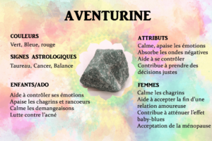 Vertus aventurine pierre gemme