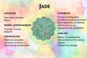 propriétés jade pierre semie precieuse