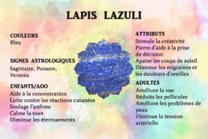Vertus lapis lazuli bleu