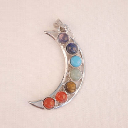 bougie pendentif lune 7 chakras