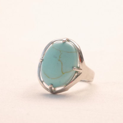 bougie bague howlite turquoise