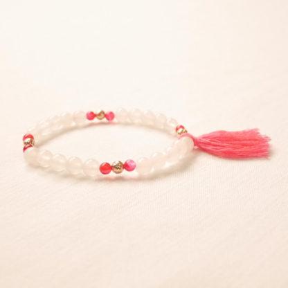 bougie bracelet aromathérapie quartz rose