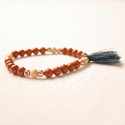bougie bracelet aromathérapie jaspe rouge