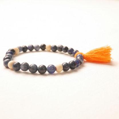 bougie bracelet aromathérapie sodalite