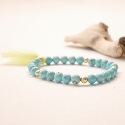 bougie bracelet aromathérapie turquoise