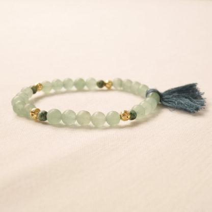 bougie bracelet aromathérapie aventurine