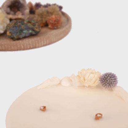 bougie océan hygge fleurs séchées