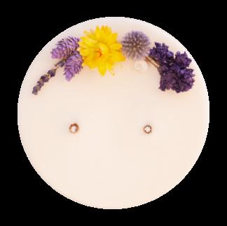 bougie naturelle fleurs séchées