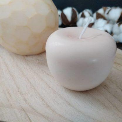 bougie décorative pomme blanche