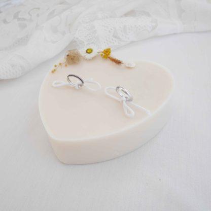 porte anneaux de mariage champêtre