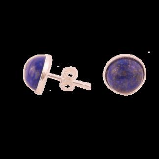 boucles d'oreilles puces argent lapis lazuli